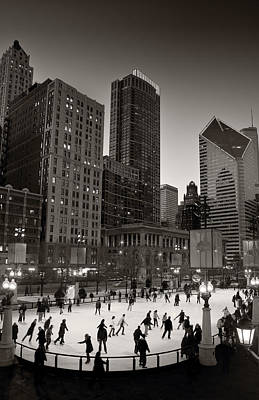 Chicago Park Skate Bw Original by Steve Gadomski