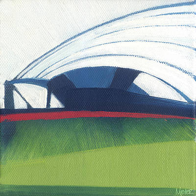 Sears Tower Painting - Chicago Pritzker Pavilion 64 Of 100 by W Michael Meyer