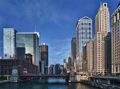 Chicago River Print by Sebastian Musial