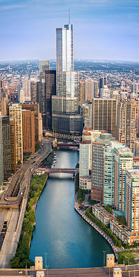 Chicago River Sunrise Print by Steve Gadomski
