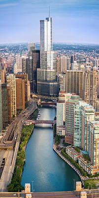Chicago River Sunrise Original by Steve Gadomski