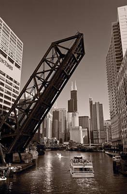 Chicago River Traffic Bw Original by Steve Gadomski