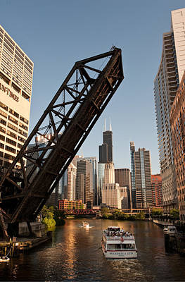 Chicago River Traffic Print by Steve Gadomski