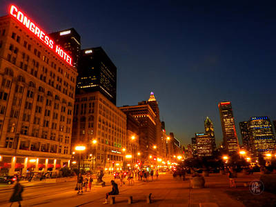Chicago Photograph - Chicago - S Michigan Ave 001 by Lance Vaughn