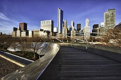 Chicago Skyline At Sunrise Print by Sebastian Musial