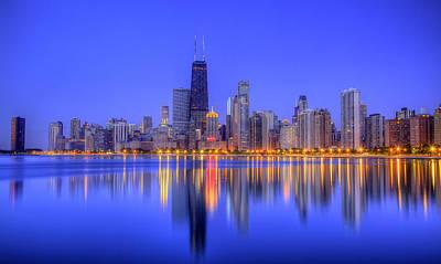 Hancock Building Digital Art - Chicago Skyline by Leslie McLain