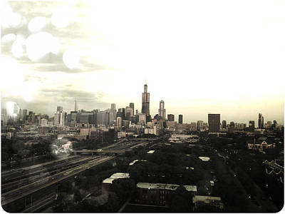 Chicago Bulls Photograph - Chicago Skyline by Mike Maher