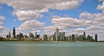 Chicago Skyline Print by Sharin Gabl