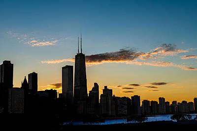 Chicago Skyline Silhouette Original by Steve Gadomski