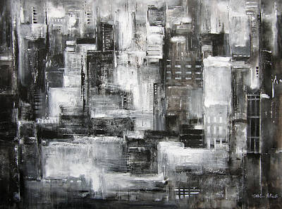 Chicago Skyline - Within The City At Night Original by Kathleen Patrick