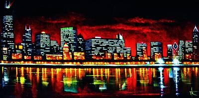 Sunsert Painting - Chicago  Sold by Thomas Kolendra