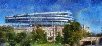 Soldier Field Digital Art - Chicago Soldiers Field Photo Art by Thomas Woolworth