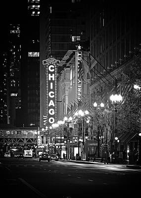 Chicago Theatre - Grandeur And Elegance Print by Christine Till