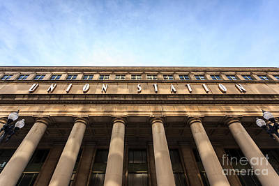 Chicago Union Station Sign And Building Columns Print by Paul Velgos