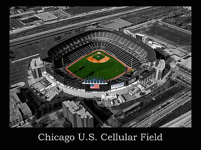 Mixed Media - Chicago Us Cellular Field Sc by Thomas Woolworth