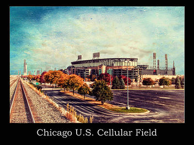 Mixed Media - Chicago Us Cellular Field Train View Hdr Textured by Thomas Woolworth