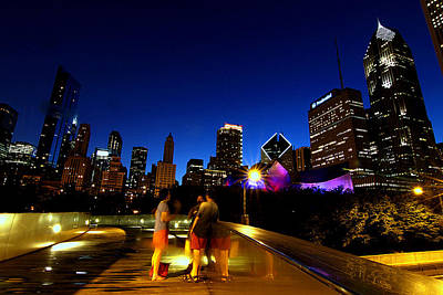 Columbus Drive Photograph - Chicago - View From The Bp Bridge by Greg Thiemeyer