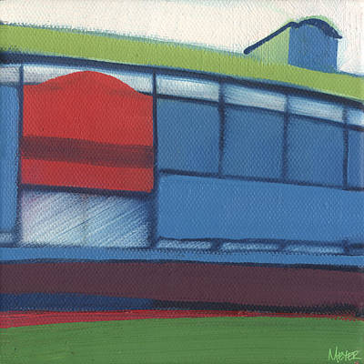 Chicago Cubs Painting - Chicago Wrigley Field 95 Of 100 by W Michael Meyer