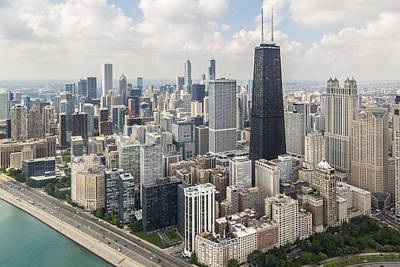 Helicopter Photograph - Chicago's Gold Coast by Adam Romanowicz