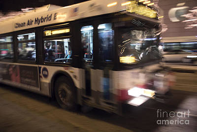 Bus Photograph - Chicago.xxv by Spencer McNeil