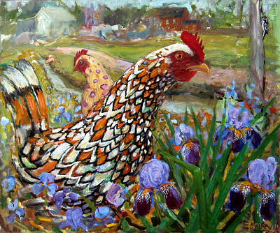 Chick And Iris Print by Paul Emory