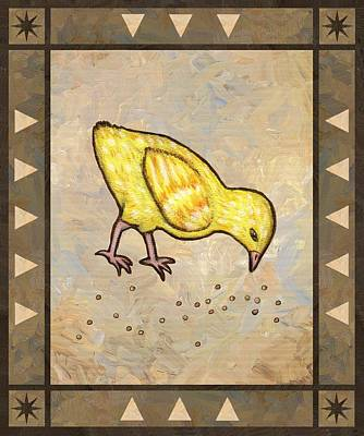 Rooster Painting - Chick Three by Linda Mears