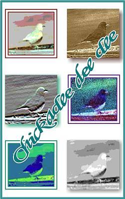 Chickadee Print by Becky Sterling
