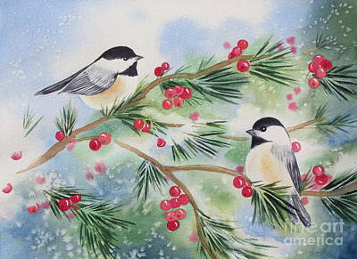 Chickadees Original by Deborah Ronglien