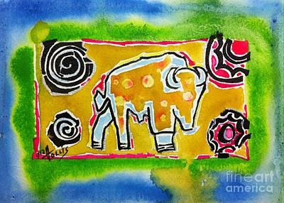 Painting - Time Buffalo by Gayla Hollis