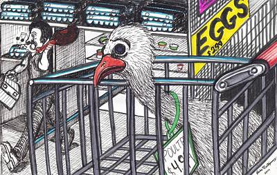 Chicken And Eggs Print by Richie Montgomery