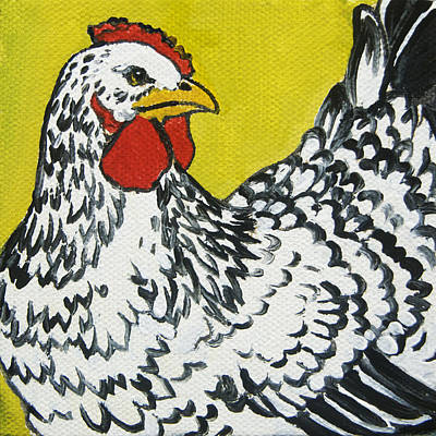 Black And White Birds Painting - Chicken Little 1 by Tracie Thompson