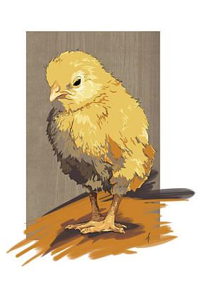 Pet Portraits Digital Art - Chickie by Alison Schmidt Carson