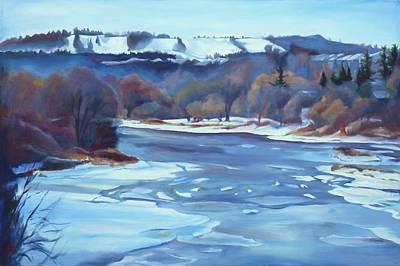 Winter Sports Painting - Chicopee Ski Hill II by Sheila Diemert