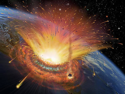 Cretaceous Photograph - Chicxulub Impact Event by David A. Hardy