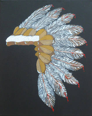 First Tribes Painting - Chief by D Freeman