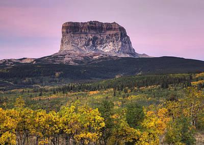 Ko Photograph - Chief Mountain Sunrise by Mark Kiver