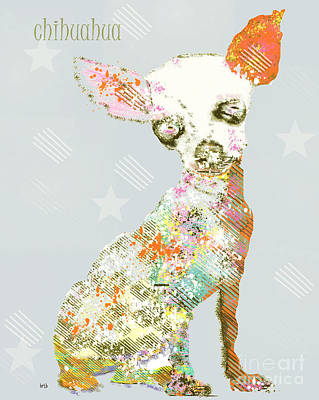 Pet Portraits Digital Art - Chihuahua Dog  by Bri B