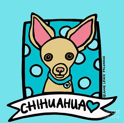 Pup Digital Art - Chihuahua Love by Anne Leuck
