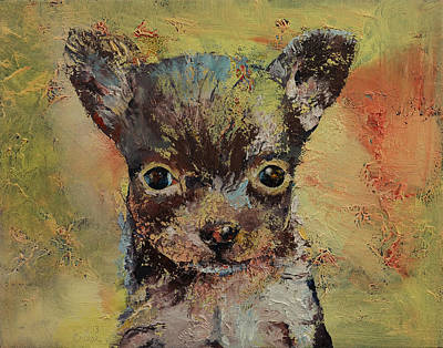 3d Painting - Chihuahua by Michael Creese