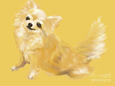 Dog Painting - Dog Chihuahua Sandy by Go Van Kampen