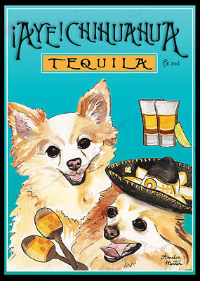 Dog Painting - Chihuahua Tequila by Amelia Hunter