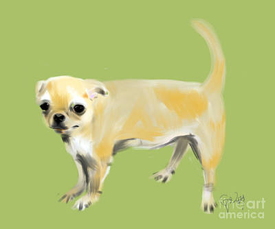 Nature Painting - Chihuahua Harry by Go Van Kampen
