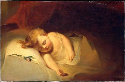 Rosebud Painting - Child Asleep by Celestial Images