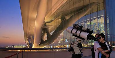 Arabia Photograph - Child Looking Through A Telescope by Babak Tafreshi