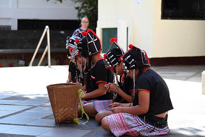 Child Photograph - Child Performers - Wat Phrathat Doi Suthep - Chiang Mai Thailand - 01134 by DC Photographer