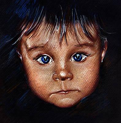 Child Portrait Print by Daliana Pacuraru