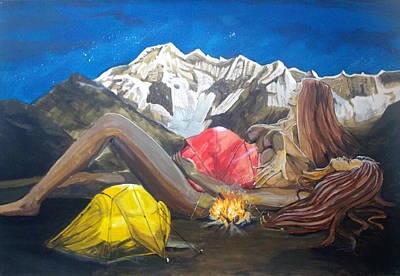 Childbirth Camp  Original by Lazaro Hurtado
