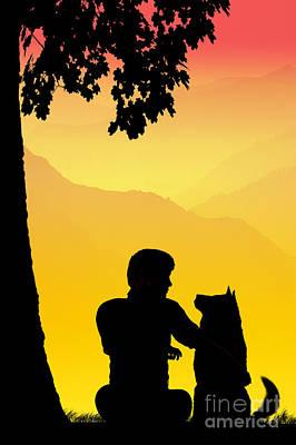 Childhood Dreams 4 Best Friends Print by John Edwards