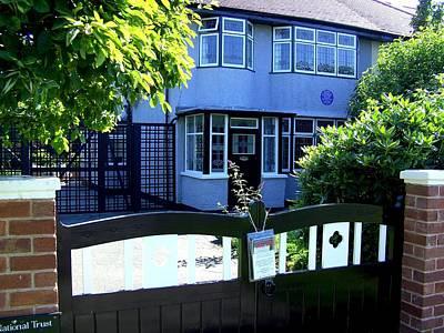 Childhood Home Of John Lennon Liverpool Uk Print by Steve Kearns
