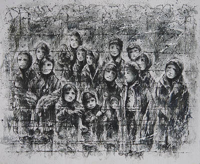 Auschwitz Drawing - Childhood Lost by Rachel Christine Nowicki